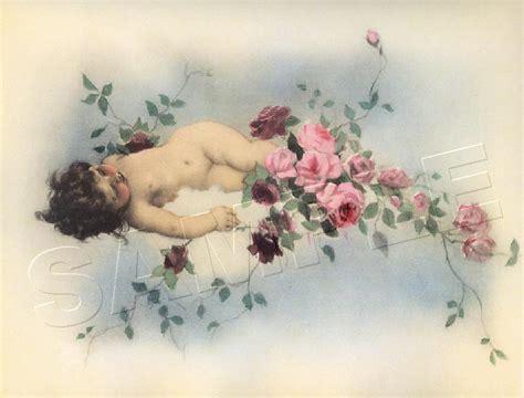Vintage Cherub L antique cherub chic shabby canvas vintage tojetti print large ebay