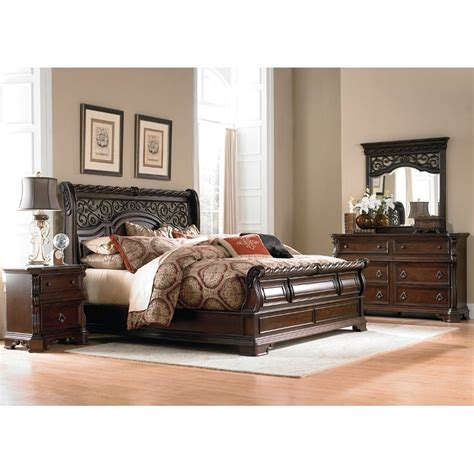 bedroom set king arbor place 6 piece cal king bedroom set