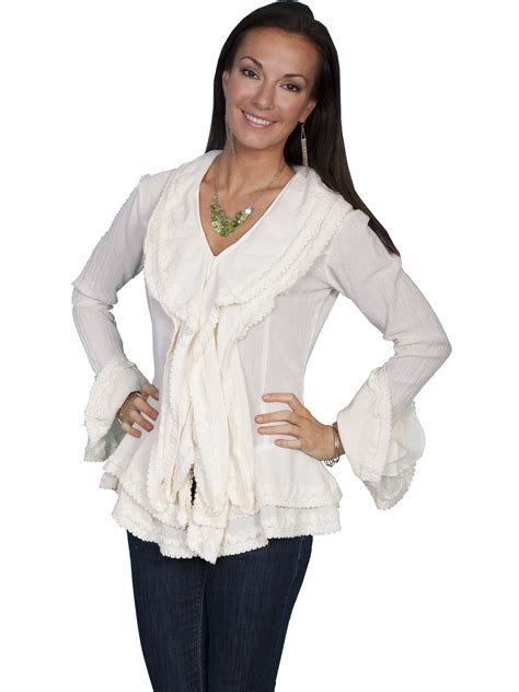 Sleeve Ruffled Blouse s sleeve ruffle blouse collar blouses
