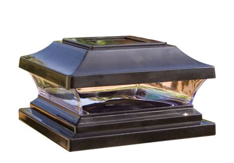 solar post cap lights 6x6 woodway premium solar post cap 6x6 black finish