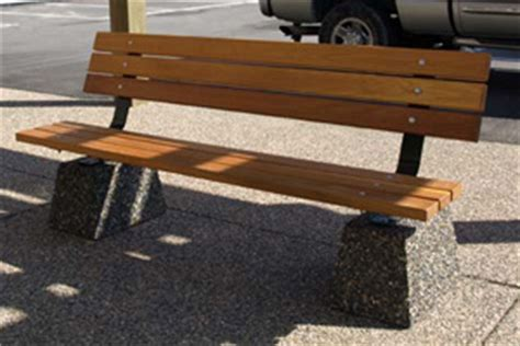 wooden park bench steel wood and concrete commercial benches nikls quot one
