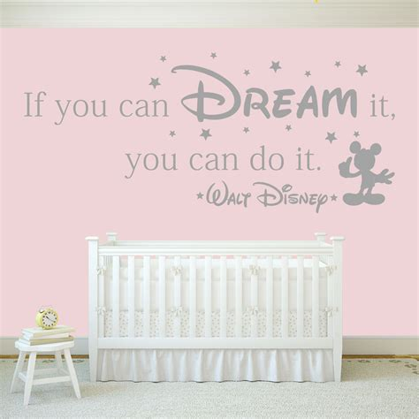 disney quote wall stickers if you can it you can do it walt disney quote wall stickers decals