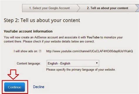 cara daftar google adsense indo melalui akun youtube cara mendaftar google adsense melalui akun youtube