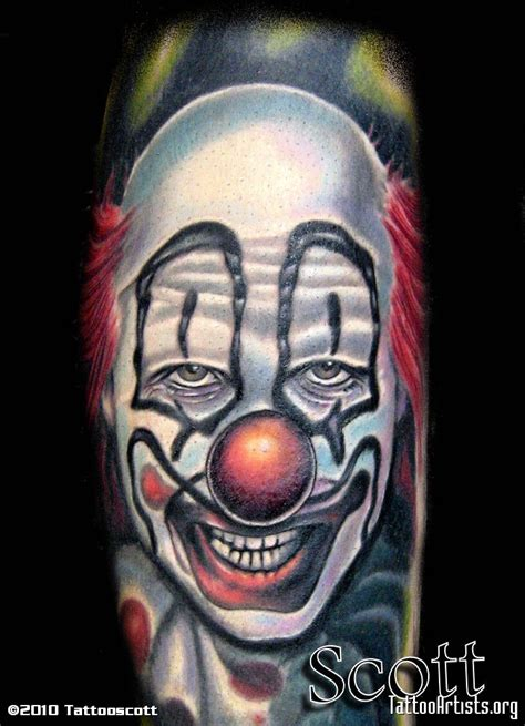 scary clown tattoos evil clown artists org