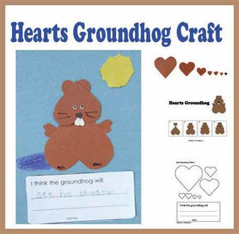 groundhog day that step hearts groundhog craft kidssoup