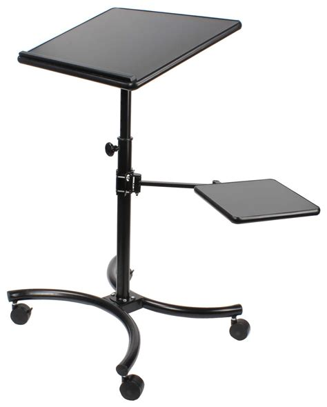 mobile computer stand height adjustable laptop shelf