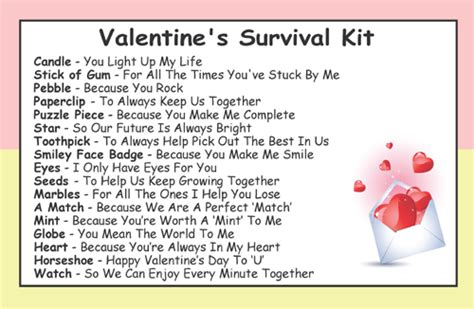 valentines day kit s for survival kit in a can