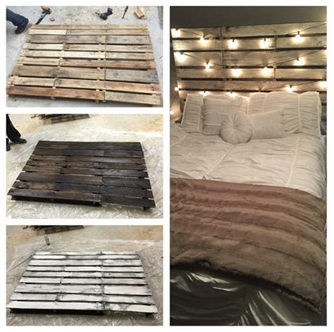 diy wood pallet bed diy wood pallet headboard crafty morning