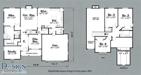 lovely 2 story 4 bedroom house floor plans new home