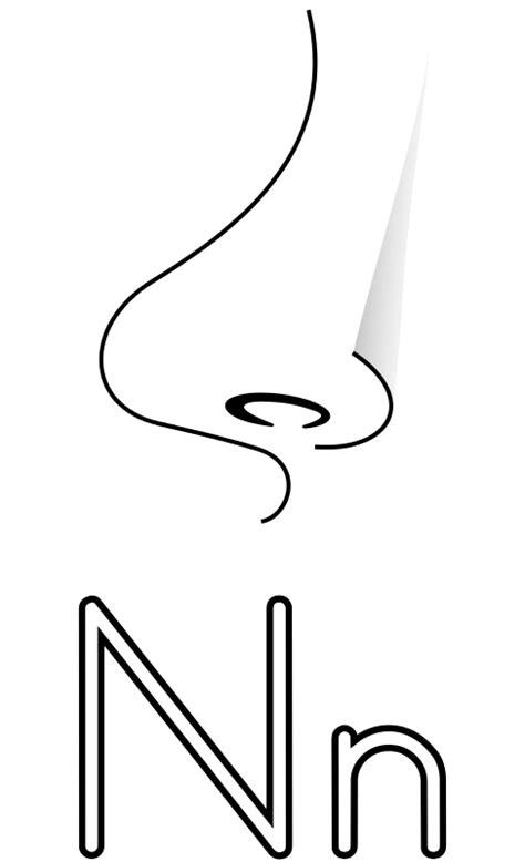pattern brush español free clipart letra n de nariz para colorear migranerp