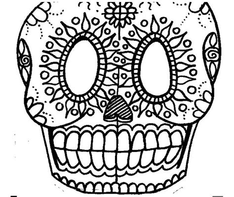 blank sugar skull template template sugar skull day of the dead