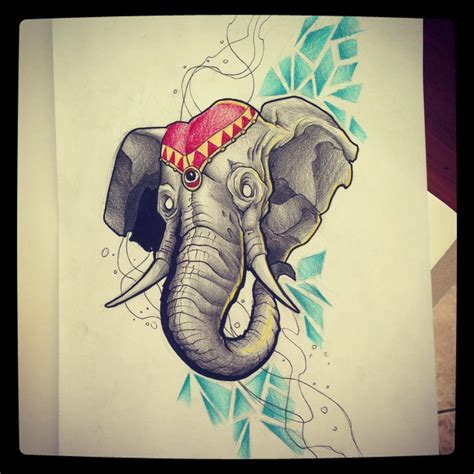 tattoo old school elephant elephant tattoo design by kirtatas on deviantart