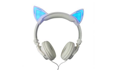 jamsonic dj style light up cat or panda headphones 85 off on jamsonic light up cat headphones livingsocial