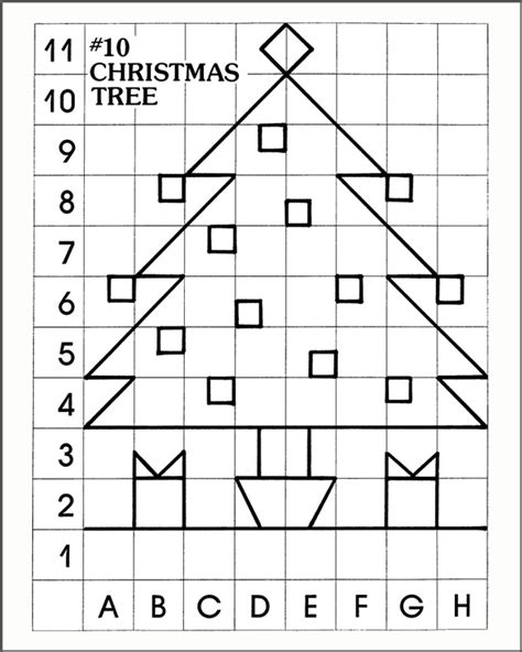 printable graph art 6 best images of holiday graph art mystery pictures