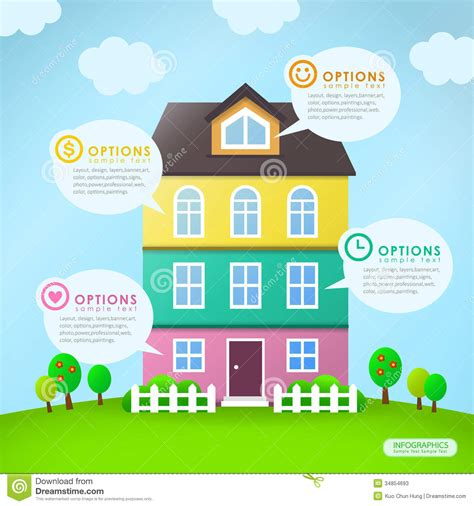 modern home design vector abstract house infographics design stock vector