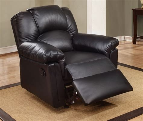 double rocker recliner chair black bonded leather rocker recliner chair lowest price