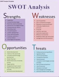 restaurant swot analysis template 40 free swot analysis templates in word demplates