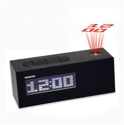 fm digital led alarm clock snooze with projector display quality abs frozen table clock desktop