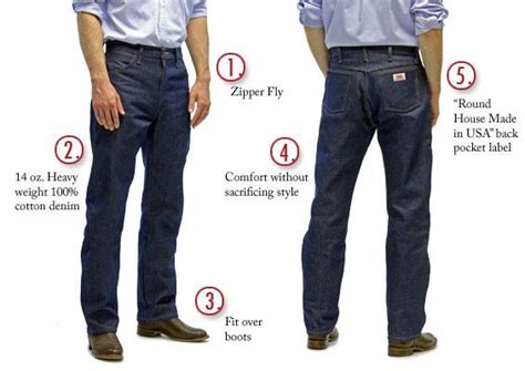 round house jeans 1903 american made jeans cowboy 14 oz 5 pocket jeans made in usa round house
