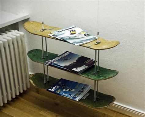 Skateboard Shelf Diy by Diy Skateboard Shelf Upcycled 500eco