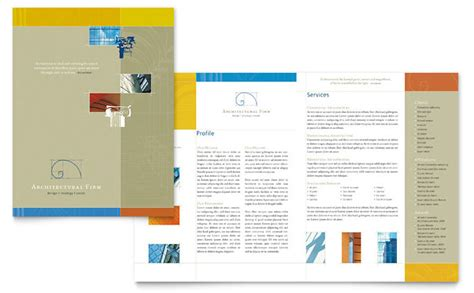 architectural firm brochure template design