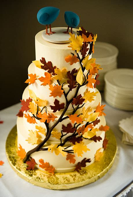 fall cake decorations wedding inspiration center fall wedding cake with nature
