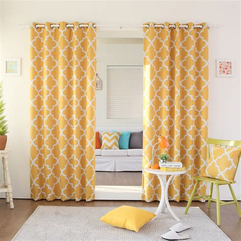 yellow moroccan curtains yellow grommet curtains furniture ideas deltaangelgroup