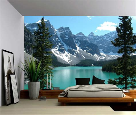 wall mural pictures canada banff rocky mountain lake large wall mural