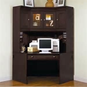 Small Corner Desk With Hutch Riverside Crossings Corner Desk With Hutch