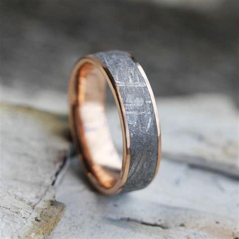 gibeon meteorite ring 14k gold wedding band space