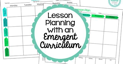 preschool ponderings lesson planning with an emergent
