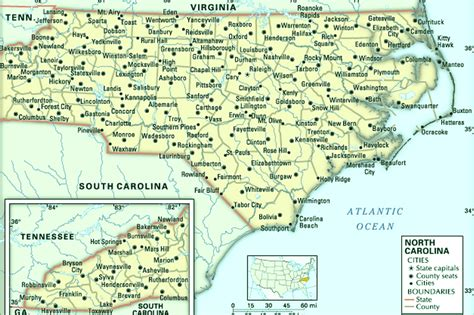 map of carolina cities and towns map of usa states