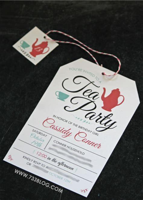 online tea party invitations blooming wreath free printable birthday