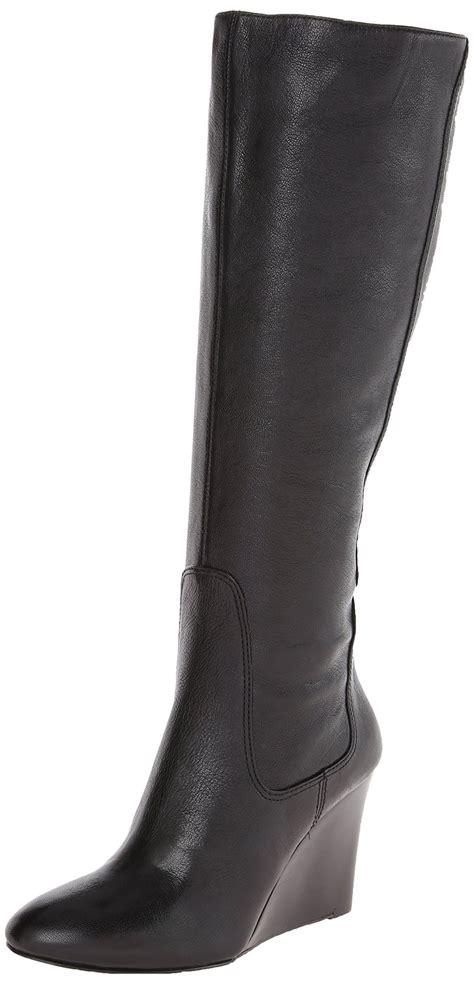knee high heel boots wide calf nine west heartset wide calf knee high leather heel boot