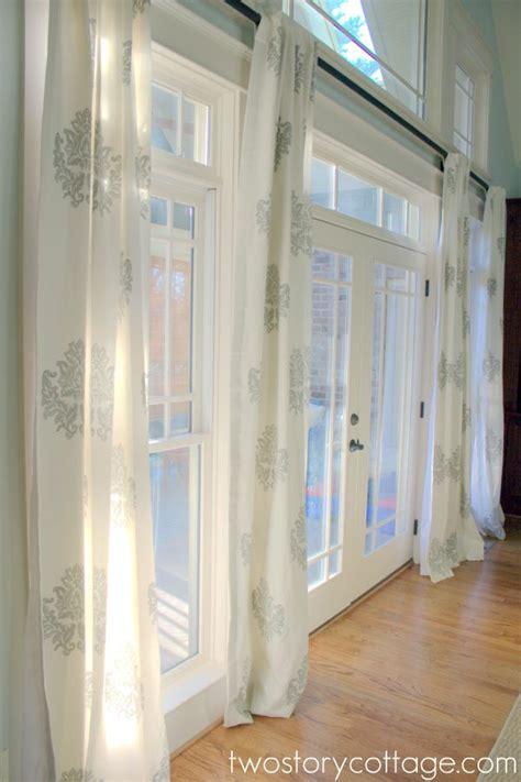 curtain rods for long windows best 25 long window curtains ideas on pinterest long