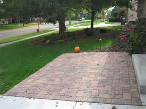 Apple Tree In Backyard Borgert Autumn Blend Cobble Front Paver Patio In Apple