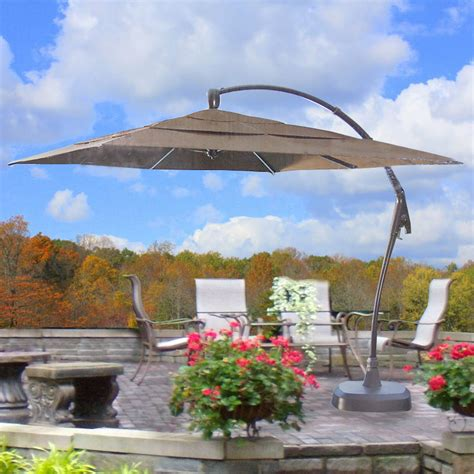 Patio Umbrellas Costco Costco Square Cantilever Umbrella Replacement Canopy 463095 Garden Winds