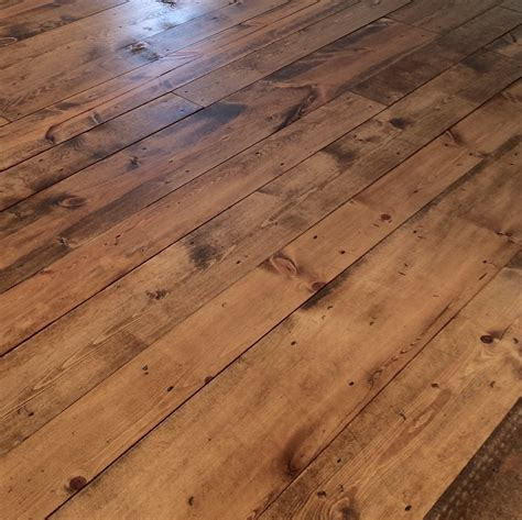 inexpensive flooring using 2 pine boards with installation tips and pictures