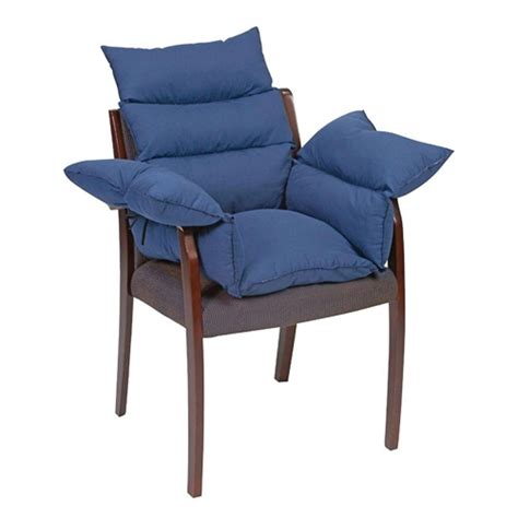 comfortable chair cushions comfort pillow cushion navy blue seat cushions