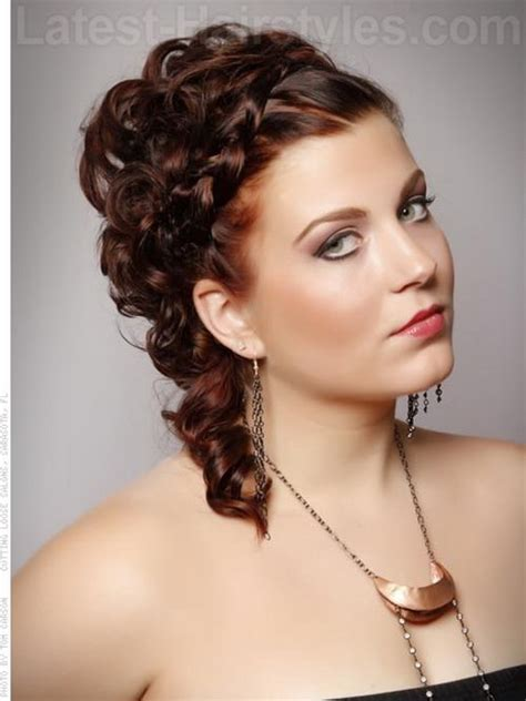 prom hairstyles updo curls prom hairstyles with braids and curls