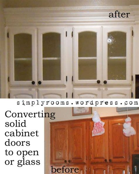 solid wood cabinet doors diy diy changing solid cabinet doors to glass inserts stone