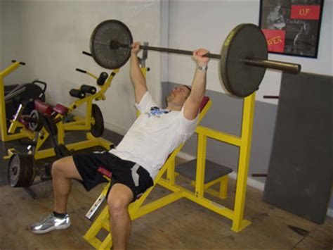 incline bench 30 degrees incline barbell bench press exercise