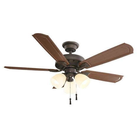 hunter oil rubbed bronze ceiling fan troposair mustang ii 18 in dual motor oscillating indoor