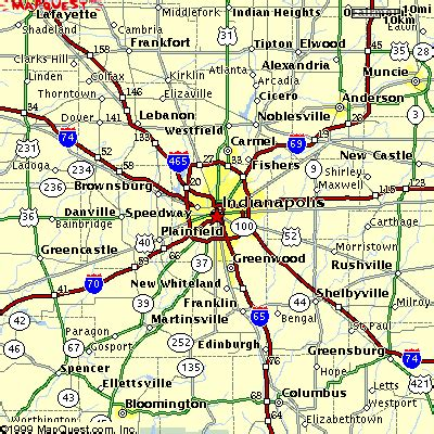indiana road map with cities map indianapolis