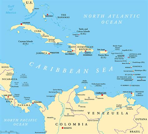 caribbean sea map pulled pork watermelon salad elizabeth s kitchen diary