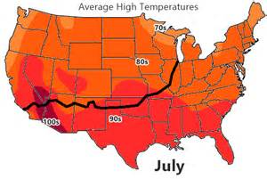 us map high temperatures weather on route 66