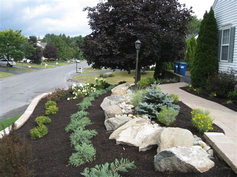 retaining wall landscape design project albany ny