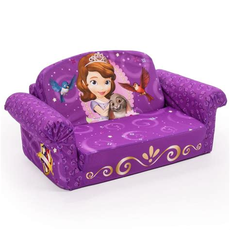 sofia the first recliner spin master marshmallow furniture flip open sofa sofia