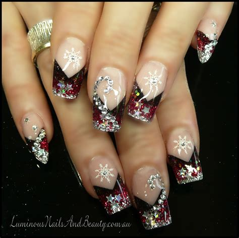 Acrylic Gel luminous nails december 2012