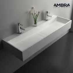 vasque rectangulaire 120 cm en solid surface